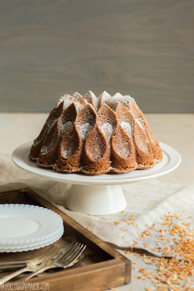 drømmekage (danish dream cake) bundt cake | Brooklyn Homemaker