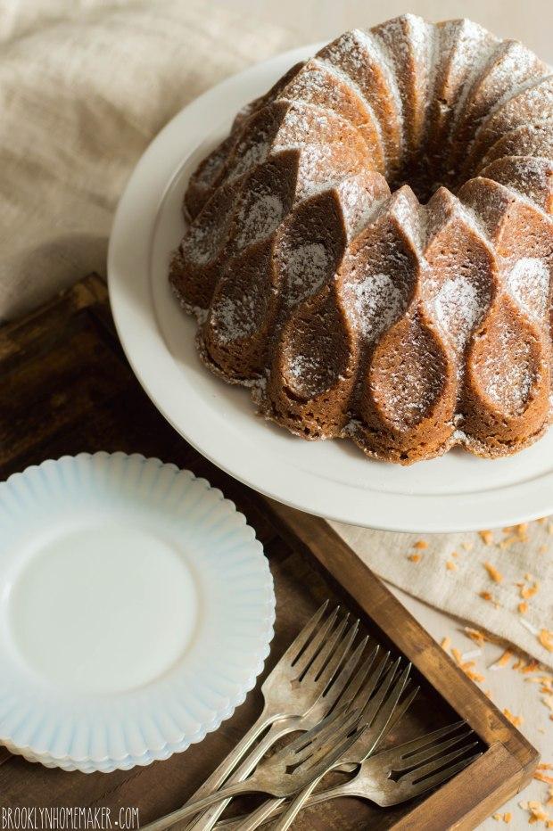 drømmekage (danish dream cake) bundt cake | Brooklyn Homemaker