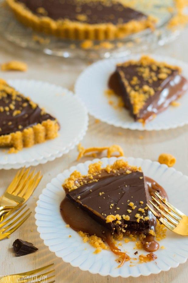 chocolate caramel frito tart | Brooklyn Homemaker