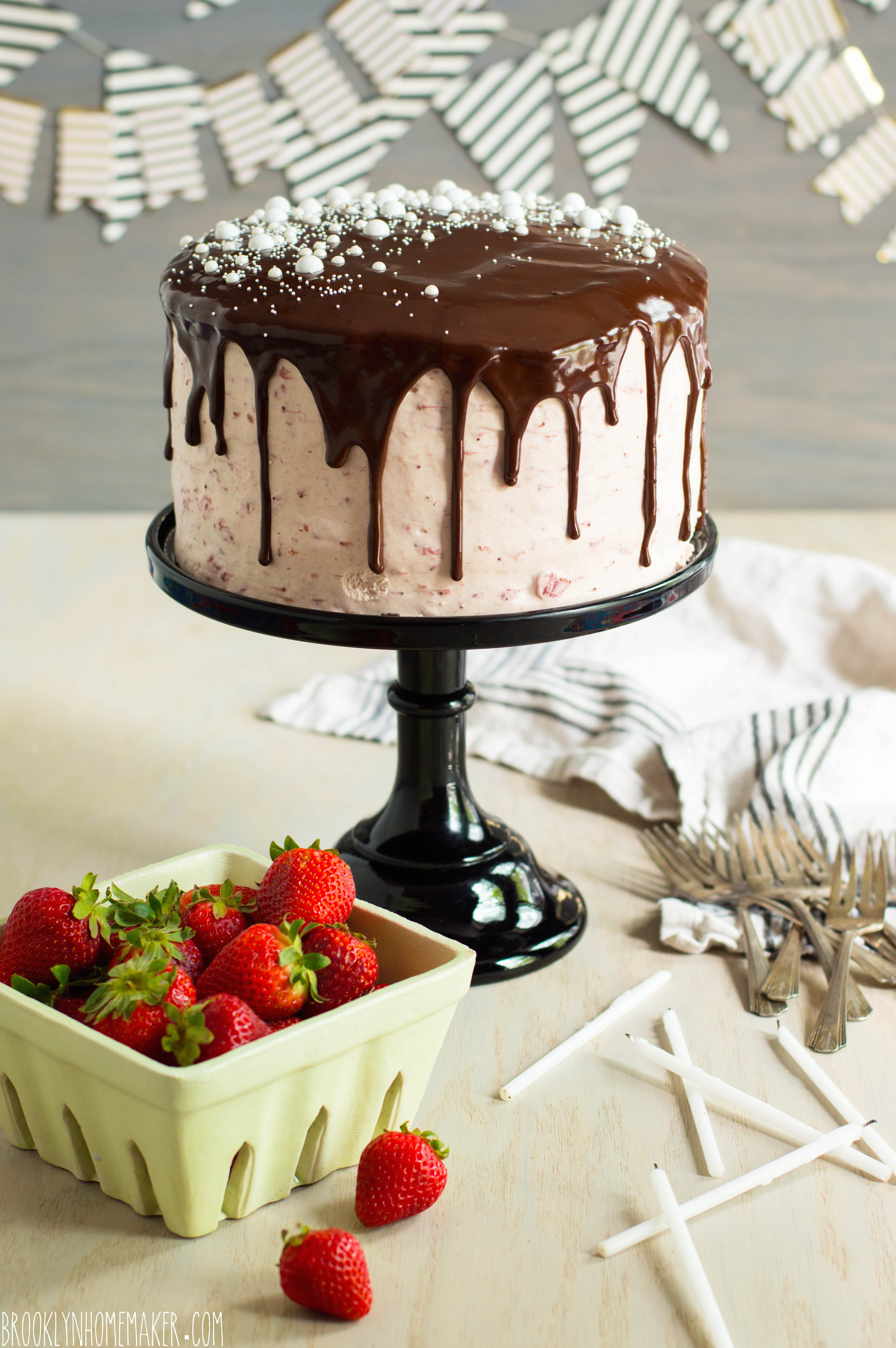 chocolate strawberry cake | Brooklyn Homemaker