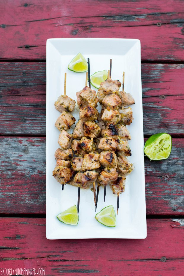 grilled mojo pork skewers | Brooklyn Homemaker