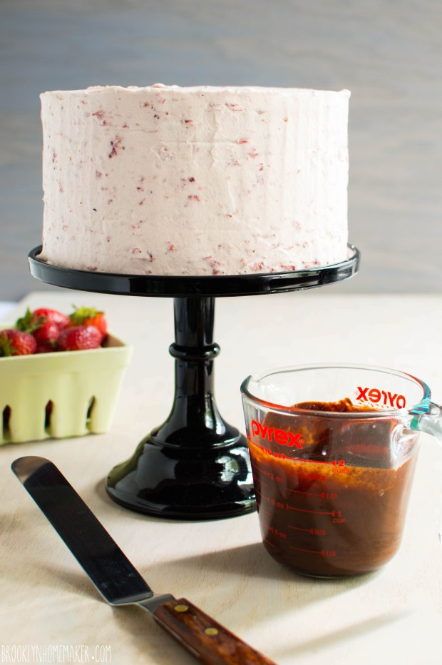chocolate tuxedo cake with strawberry mascarpone icing | Brooklyn Homemaker