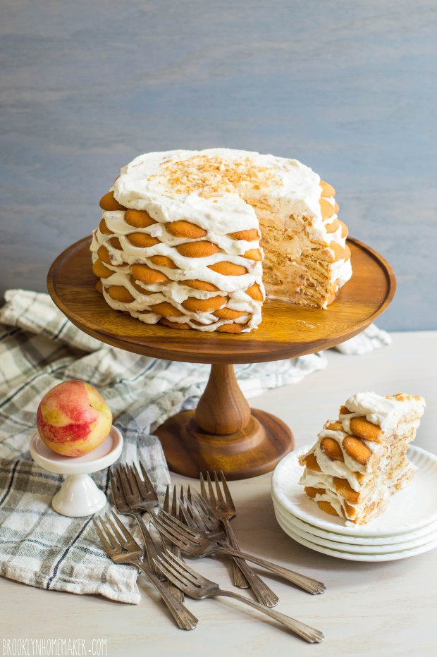 nectarines and cream icebox cake | Brooklyn Homemaker