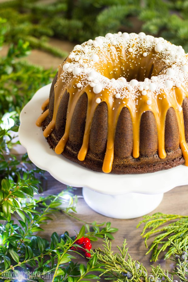 spicy gingerbread bundt with caramelized white chocolate ganache | Brooklyn Homemaker