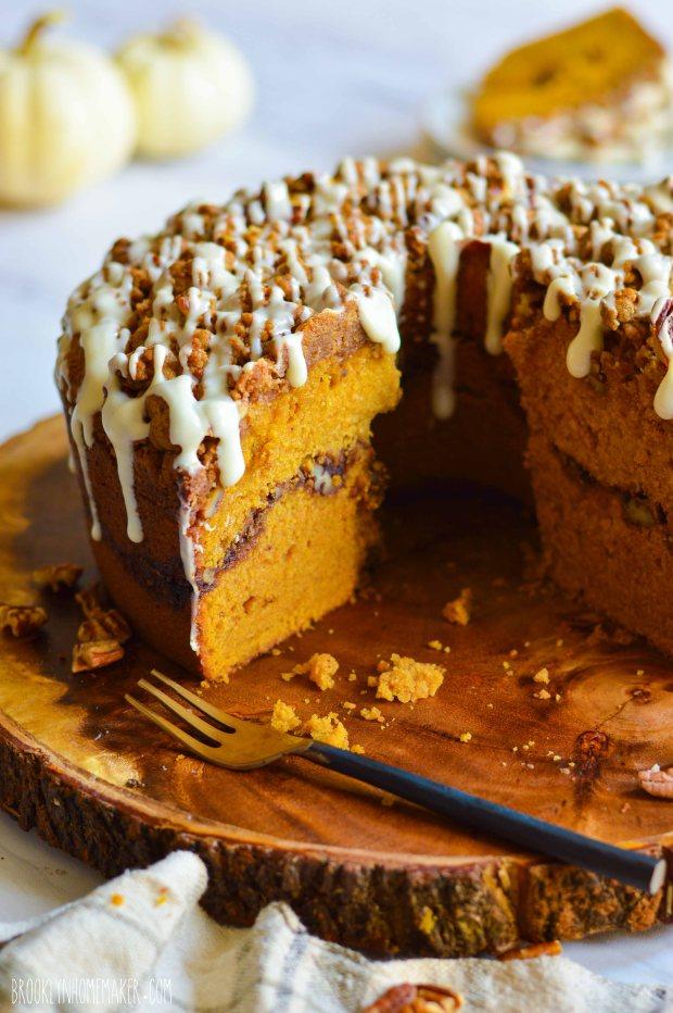 pumpkin streusel coffee cake | Brooklyn Homemaker
