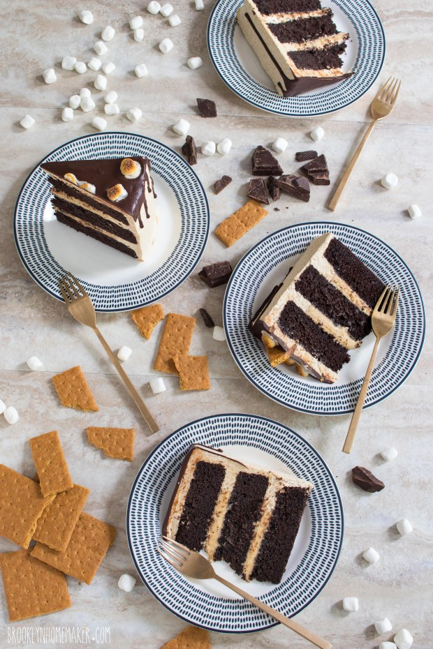 s'mores layer cake | Brooklyn Homemaker