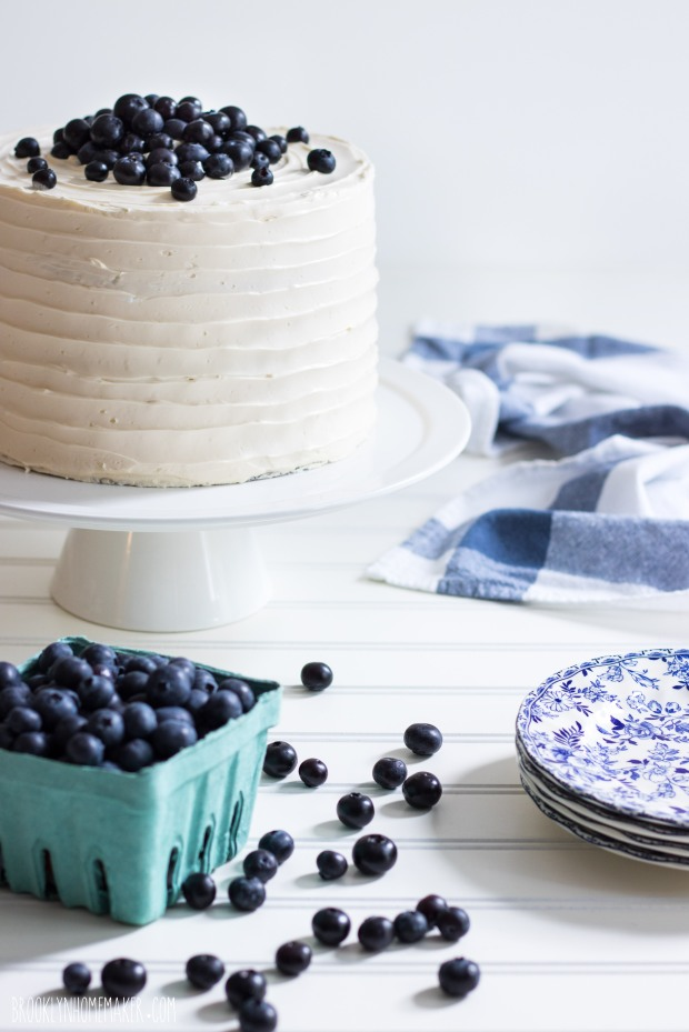 triple blueberry layer cake | Brooklyn Homemaker
