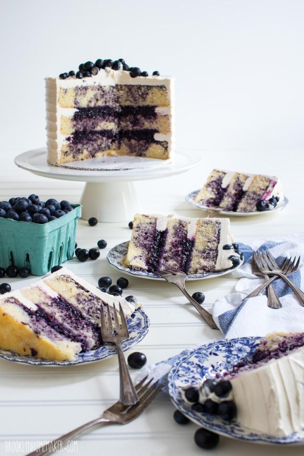 triple blueberry layer cake | Brooklyn Homemaker