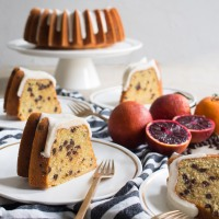 blood orange chocolate chip bundt cake