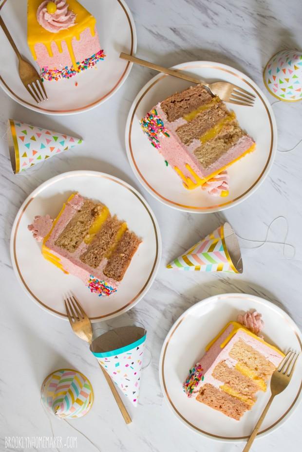 strawberry lemonade layer cake | Brooklyn Homemaker